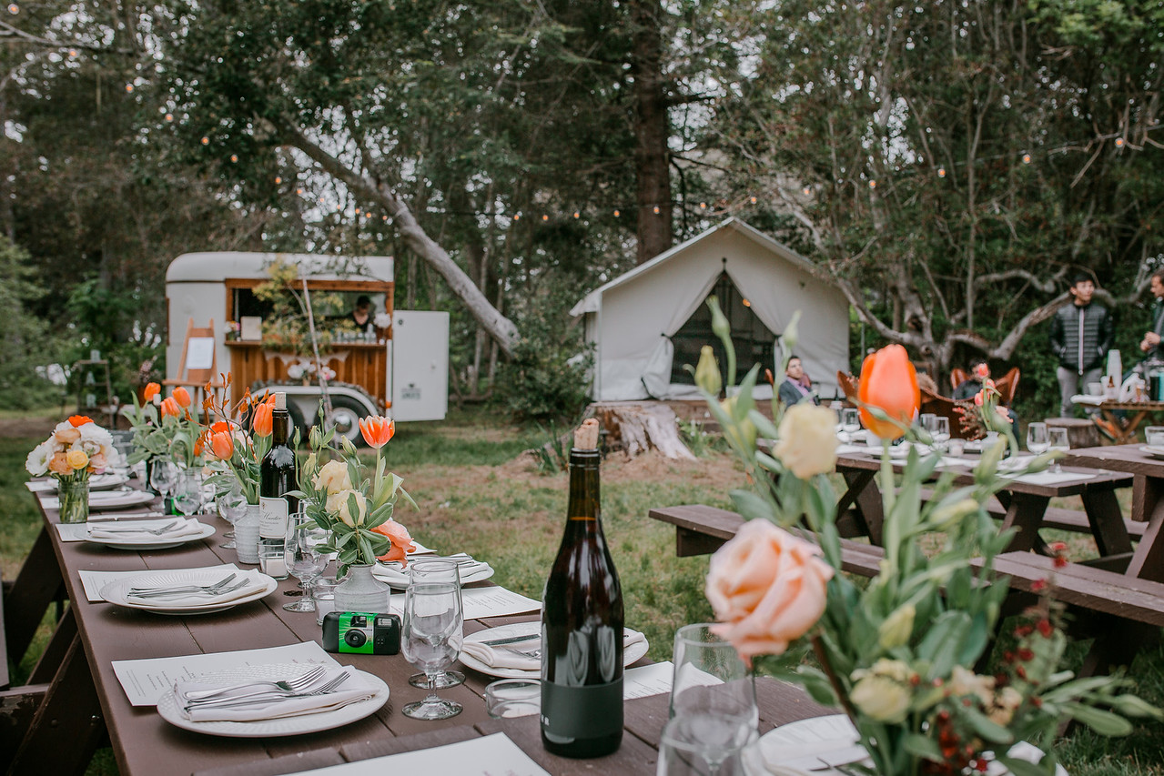 Catering by Trillium Mendocino, photography by Cassandra Young